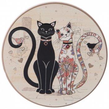 Подставка под горячее парижские коты 11*11*1 см. (кор=72шт.)