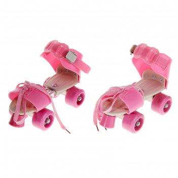 Ролики для обуви раздвижные, размер 16-21 см, колеса рvc d = 45 мм, цвет р