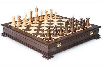 Шахматы стаунтон венге, 44х44см