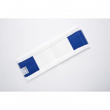 Насадка для швабры, плоская микрофибра, цвет белый, 45 см