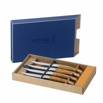 Набор столовых ножей opinel vri olive wood из 4-х штук (нержавеющая сталь