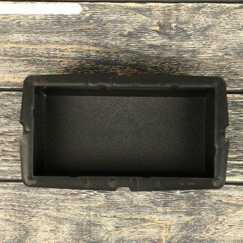 Форма для тротуарной плитки «кирпич», 20 x 10 x 6 см, шагрень, ф11018