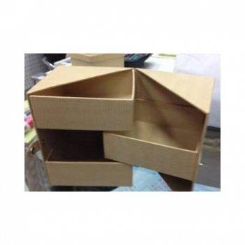 Шкатулка раскладная квадратная, картон,10х10х12 см