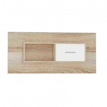 Полка навесная «стелс», 1 дверь , 1200 x 230 x 550 мм, цвет дуб сонома / б