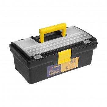 Ящик для инструмента tundra, 13, 33х17.5х12.5 см, пластиковый, органайзер,
