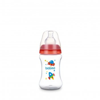 Бутылочка baboo с соской силик. (узкая)  150 мл. space, 0 мес+