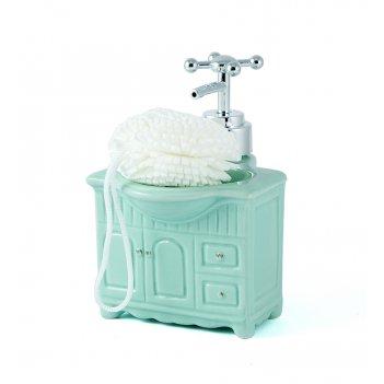 Диспенсер для мыла с губкой 11*10*15см