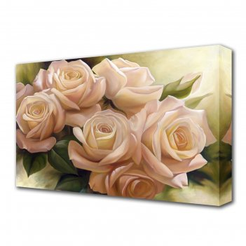 Картина на холсте цветы любви 60*100 см