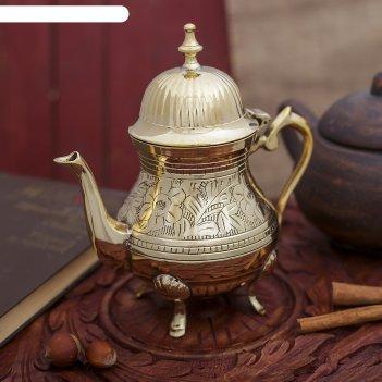 Сувенир латунь чайничек 18,5х10х16,5 см