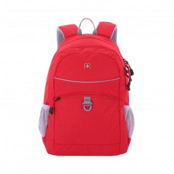 Рюкзак wenger, красный/серый, полиэстер, 33х16,5х46 см, 26 л