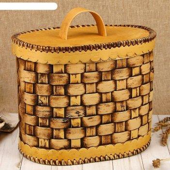 Хлебница плетеная, береста