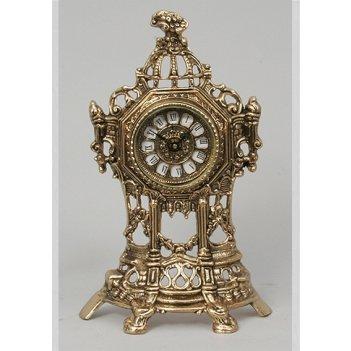 Часы-половинки из бронзы virtus золото 35х22см 5530
