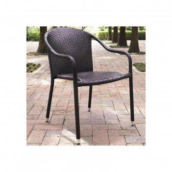 Плетеное кресло из искусственного ротанга