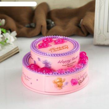 Шкатулка музыкальная торт