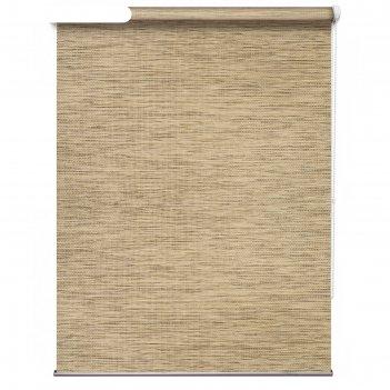 Рулонная штора «техас», 60х175 см, цвет бежевый