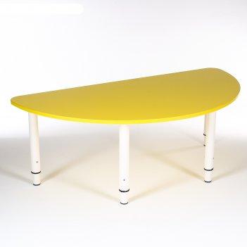 Стол полукруг растущий гр.0-3 на металлокаркасе, желтый