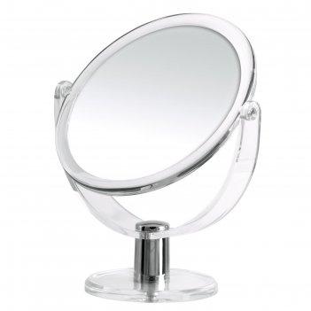 Зеркало косметическое настольное kida, 1х/3х, прозрачное