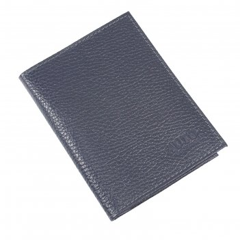 Обложка для автодокументов, размер 10 х 13,8 см, цвет синий тёмный флотер