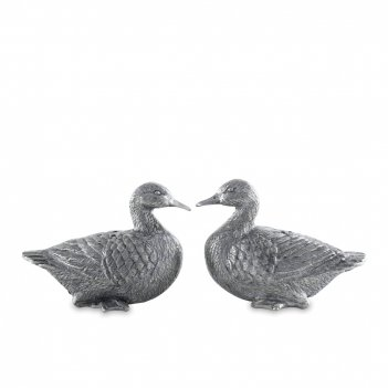Солонка и перечница «утренняя охота утки», размер: 6,4 х 3 х 5 см, материа