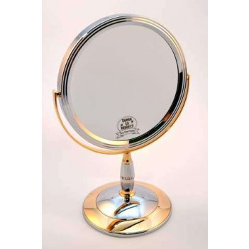 Зеркало b7 808 c/g chrome&gold наст. кругл. 2-стор. 5-кр.ув.