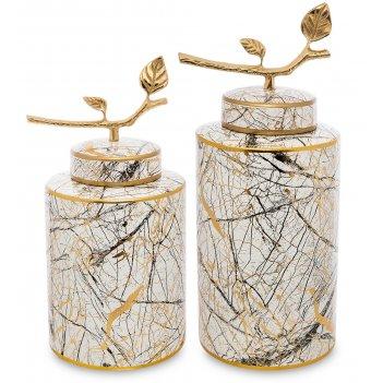 Ig-105 ваза декоративная мрамор (набор из 2 шт.)
