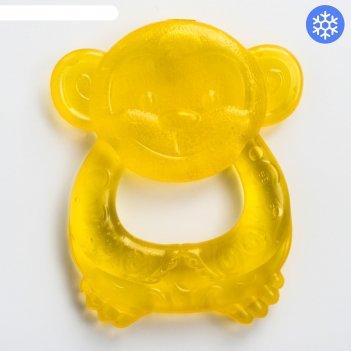 Прорезыватель охлаждающий «обезьянка», колечко, цвет микс