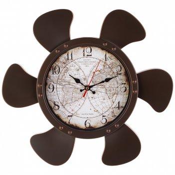 Часы настенные кварцевые карта мира 38*35 см  (кор=6шт.) циферблат19