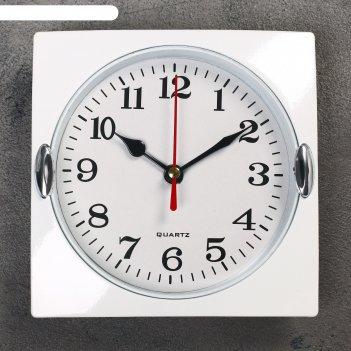 Часы настенные, серия: классика, лаура, хром, 15х15 см