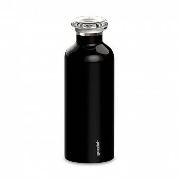 Термобутылка, объем: 500 мл, материал: нержавеющая сталь, пластик, цвет: ч