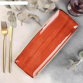 Блюдо сервировочное «терракот», 31x12x1 см