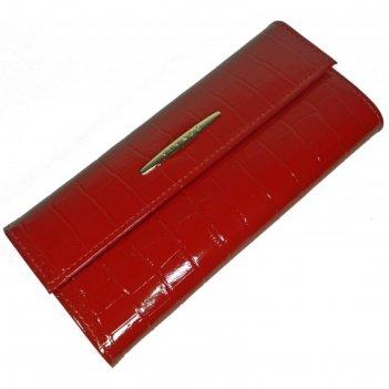 Портмоне, 2 отдела для купюр, для монет, для кредитных карт, цвет красный