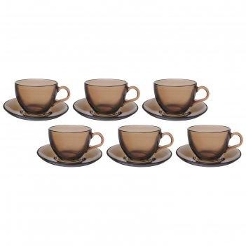 Набор чайный 6 персон 12 предметов 238 мл броунз