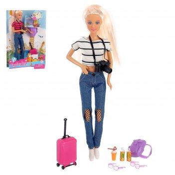 Кукла модель «путешественница» с аксессуарами, микс