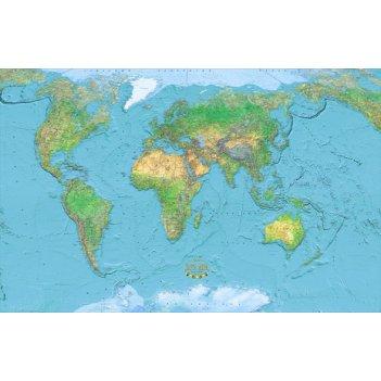 Физическая карта мира 225 x 352 см