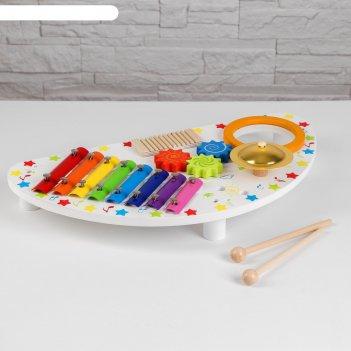 Игрушка из дерева «логический столик» 10x45x23,5 см