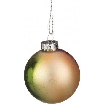 Декоративное изделие шар стеклянный диаметр=6 см. высота=7 см. разноцветны