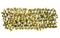 Декоративное ограждение листья светлый кант 210x25 см