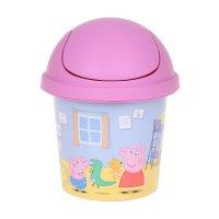 Детская мусорная корзина свинка пеппа круглая, 7 л, цвет розовый