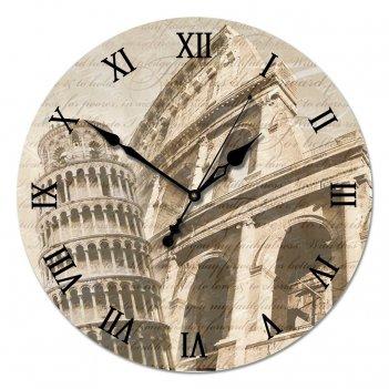 Настенные часы из стекла династия 01-004 старинная италия