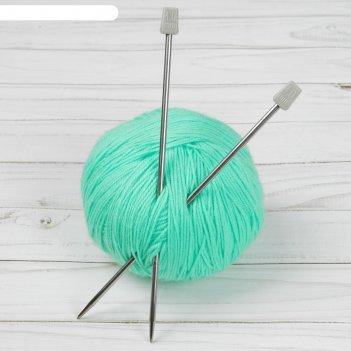 Спицы для вязания, прямые, d = 4 мм, 20 см, 2 шт