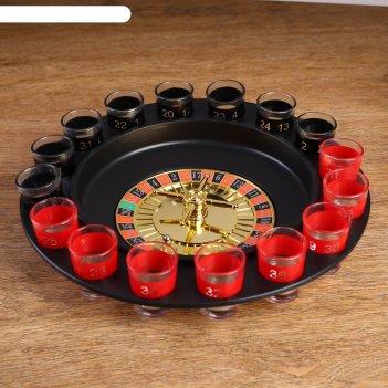 Алкогольная рулетка алко - вегас: 16 рюмок, черная