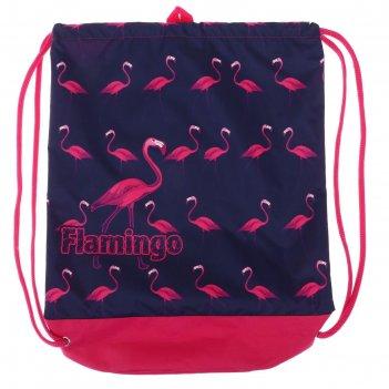 Мешок для обуви с карманом 540*410 оникс мо-33-20, мал, фламинго принт 633