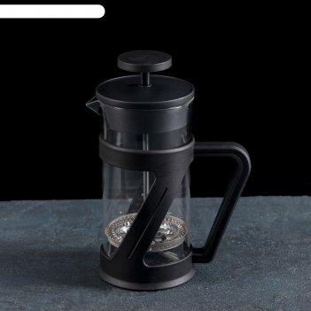 Френч-пресс зет 350 мл, цвет черный 12,5х7,5х17 см