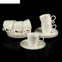 Сервиз кофейный джессика. бабочка, 12 предметов: 6 чашек 50 мл, 6 блюдец 1