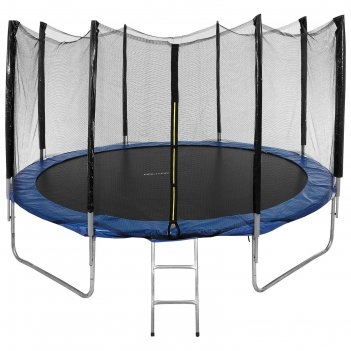 Батут d=366 см, с внешней защитной сеткой и лестницей, высота сетки 173 см