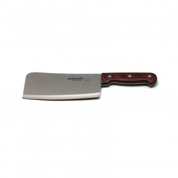 Топорик для мяса atlantis, деревянная ручка, 17см