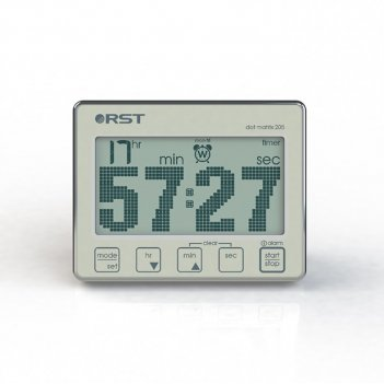 Цифровой таймер-секундомер с часами dot matrix 205