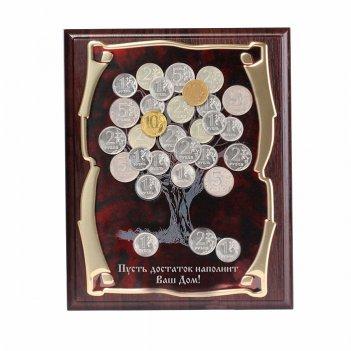 Панно денежное дерево пусть достаток наполнит ваш  дом! в картонной коробк
