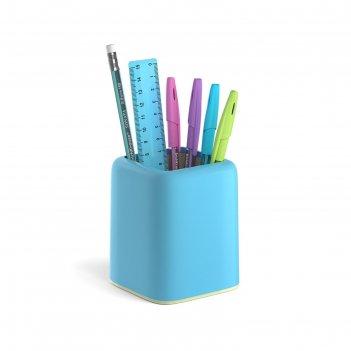 Набор настольный канц 3 пред erichkrause forte, pastel, голубой с желтой в
