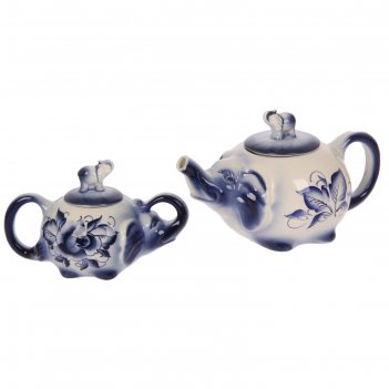 Чайная пара слоник чайник+сахарница